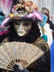 masked lady at Venice carnival