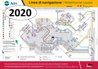 Venice vaporetto (water-bus) route map - Venezia mapa, kort, kaart, kartta, carte, karte, mappa, karta, harita